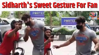 Sidharth Shukla Shows Sweet Gesture to a Fan as He Spotted Today in Mumbai | Tvsamachar24