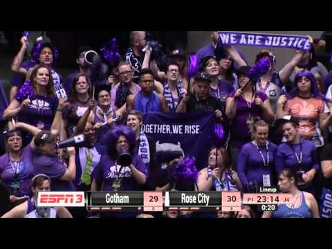 2015 WFTDA Champs -  D1 Game 12: Gotham Girls Roller Derby vs Rose City Rollers