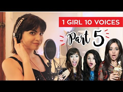 1 GIRL 10 VOICES! (CAMILA CABELLO, KATY PERRY, SELENA GOMEZ & 7 MORE)