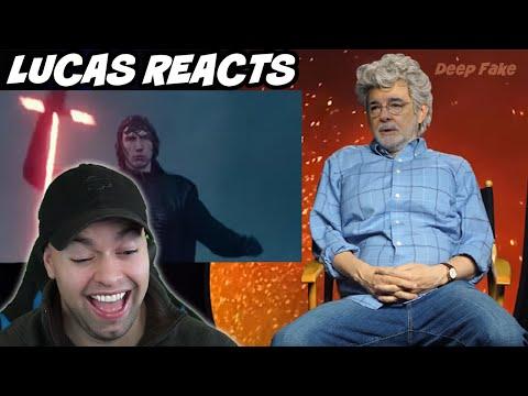 George Lucas Reacts to Episode 9 Trailer- Deepfake Reaction