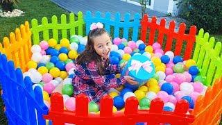 Öykü Plays Outdoor games and have fun