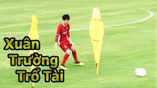 Thử Thách Bóng Đá với Xuân Trường , Đoàn Văn Hậu U23 Việt Nam quẩy skills như Ronaldo