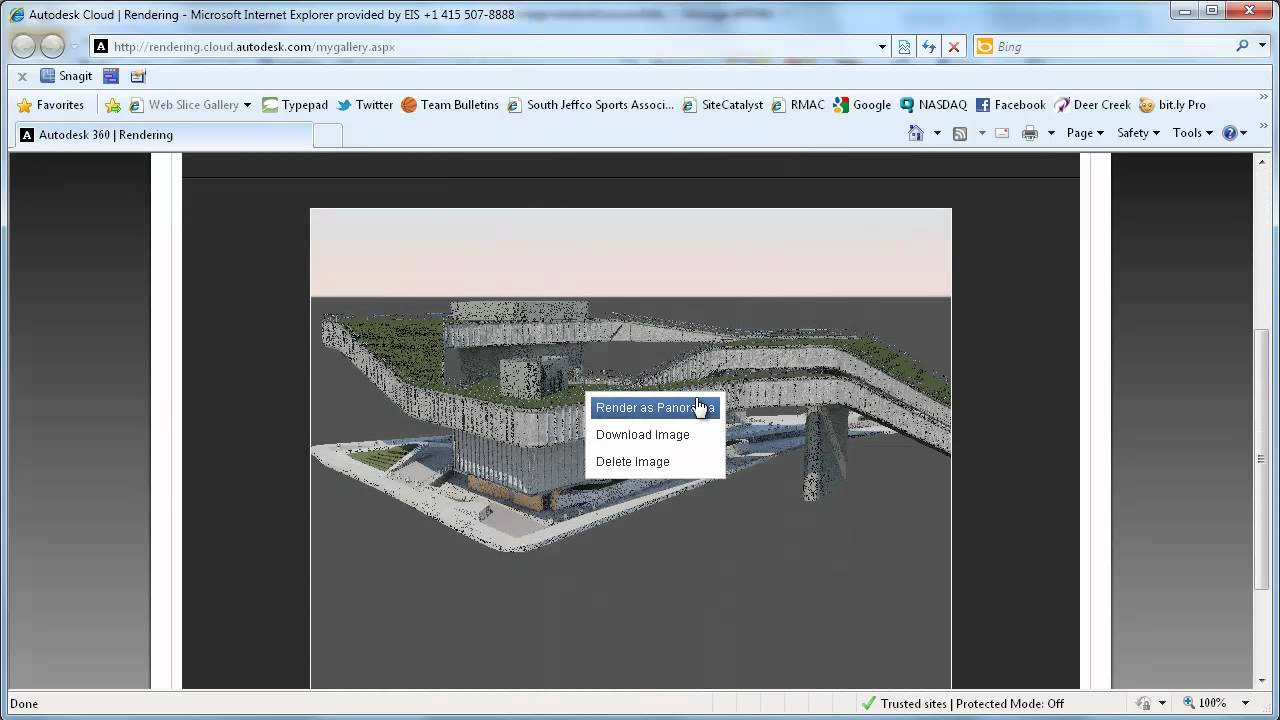 Autocad 2013 Online Rendering Youtube