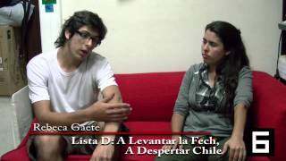 Repeat youtube video Candidata FECh 2013 Rebeca Gaete Entrevista Canal 6