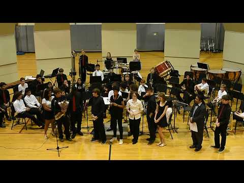 McDougle Middle School 8th Grade Band Finale and Thanks to Mr. Rodriguez