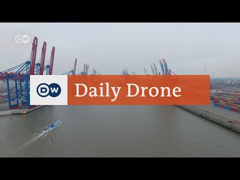 #DailyDrone: Ports in Germany | DW English