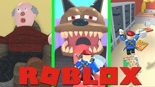 3 TIMES ESCAPE FROM 3 NEW ROBLOX OBBY'S!!