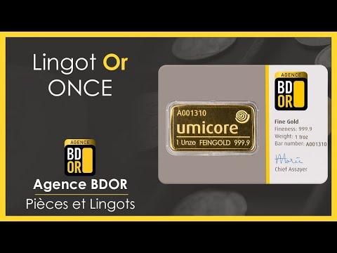 Lingotin Or 1 Once - Achat Vente Or - Agence BDOR - 1Oz Gold Bullion