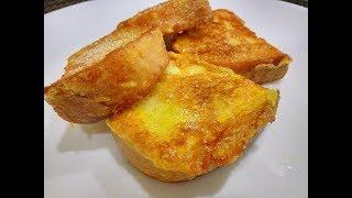 Сладкие ГРЕНКИ из Батона с Яйцом на Сковороде/Быстрый Завтрак из Доступных Продуктов