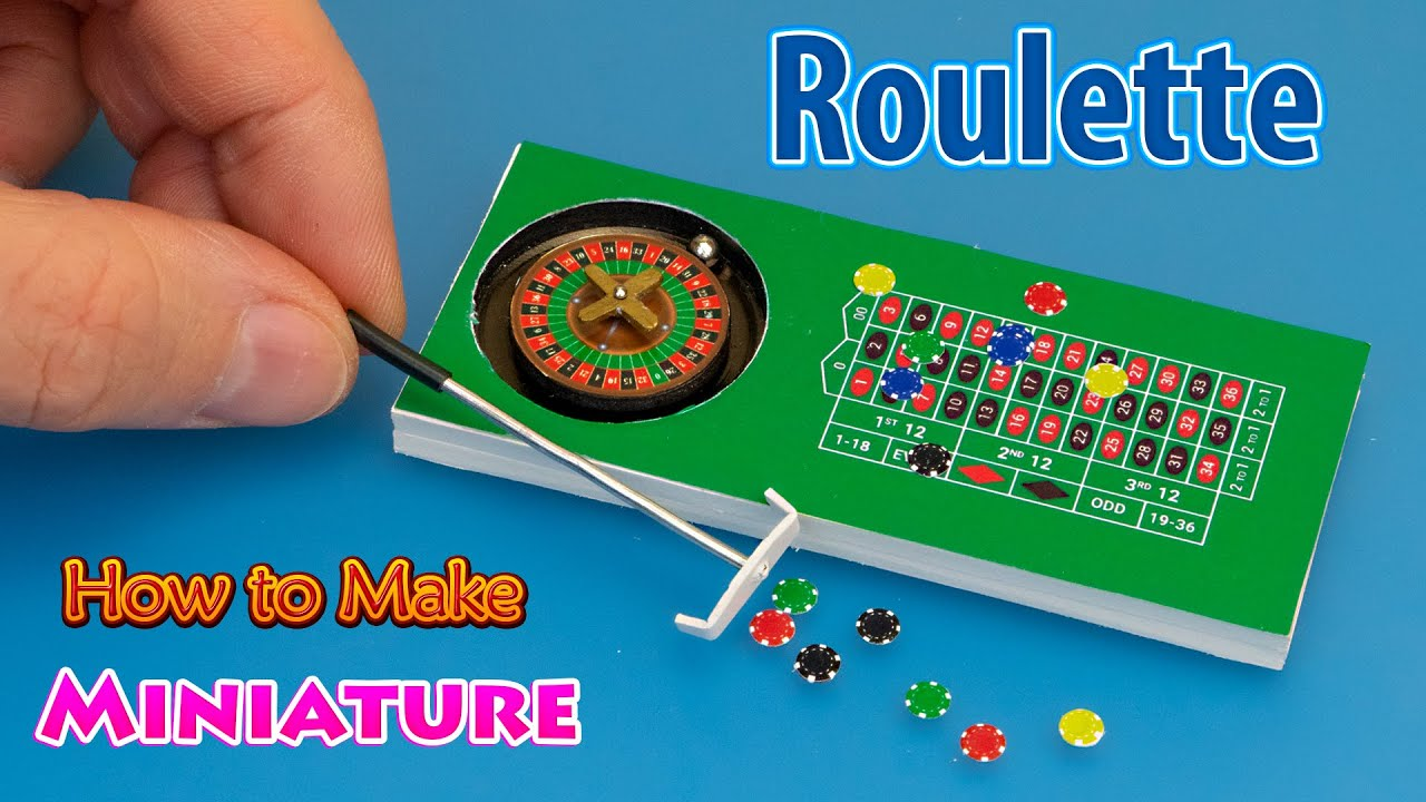 How to make Table Top Roulette Wheel with Chips Miniature - Tutorial