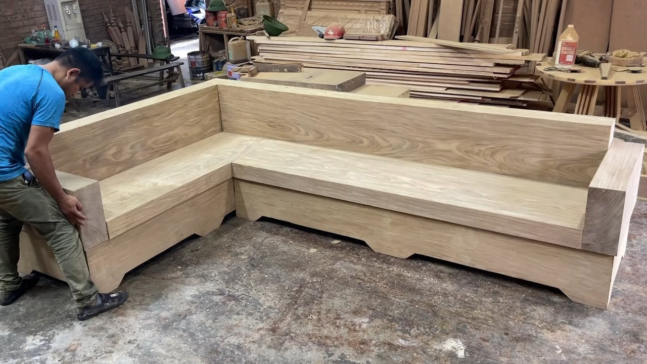 Amazing Techniques Woodworking Skills Ingenious - Build A Extreme Big And Beautiful Monolithic Sofa