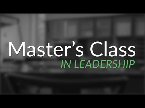 Master's Class in Leadership