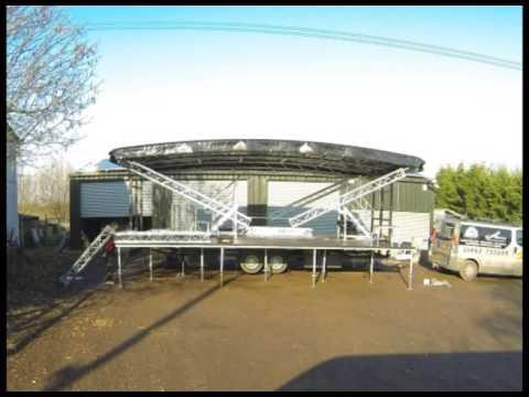 8m x 6m Mobile stage setup and take down