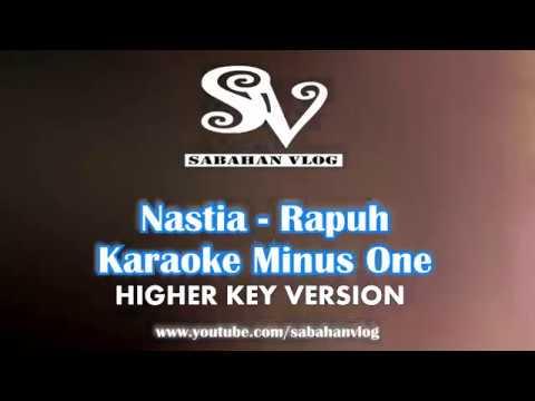 Rapuh - Nastia - Karaoke Minus One_Sabahan VLog (OST Papa Ricky) _HIGHER KEY_FEMALE VERSION