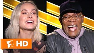 Brie Larson & Samuel L. Jackson Love Faerie Tales and Karate   Captain Marvel Interview