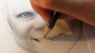 Drawing the mouth of a child