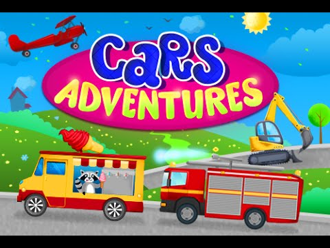 Cartoon and interactive game for children Cars Adventures. Construction games for kids