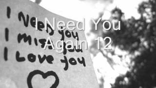 I Need You Again 12 - chiodo schiaccia chiodo -
