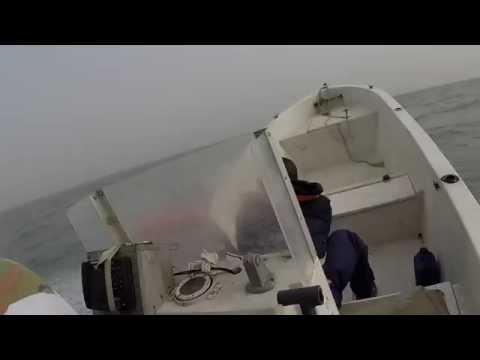 Archipel des Bijagos Haute mer en barque motorisée, Gopro / Bissagos archipelago high sea motor boat