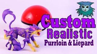 Tutorial: Custom Realistic Purrloin and Liepard Pokemon Miniatures Figures
