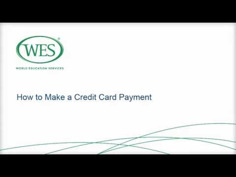 How to make a credit card payment for WES services