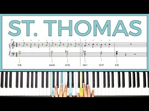 How to play 'ST. THOMAS' by Sonny Rollins on the piano -- Playground Sessions