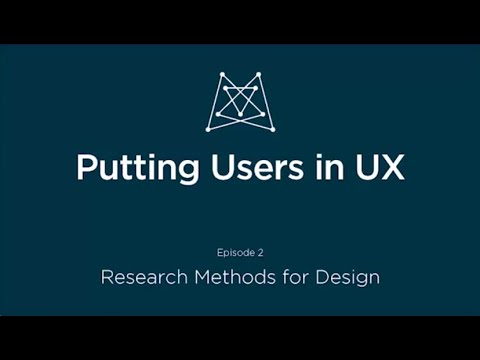 Putting Users in UX: Research Methods for Design