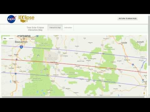 Chasing Totality: Using NASA's Interactive Map