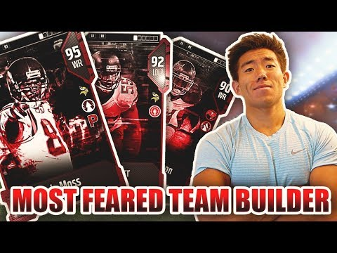 GIANT PLAYERS! ALL 'MOST FEARED' TEAM BUILDER! Madden 18 Ultimate Team