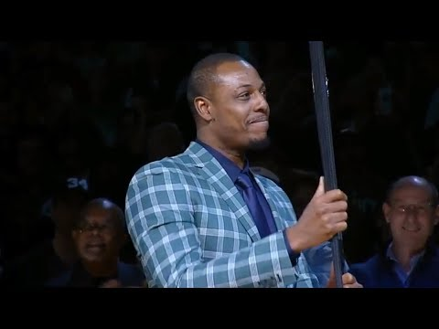 Paul Pierce Jersey Retirment Ceremony / Feb 11 / 2017-18 NBA Season