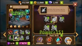 Magic Rush Heroes: Vortex lvl 0-90 upgrade orange and equipments