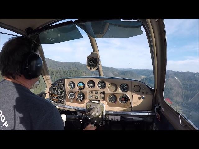 Landing at Ruth, Ca. (T42) -  1952 Beechcraft Bonanza