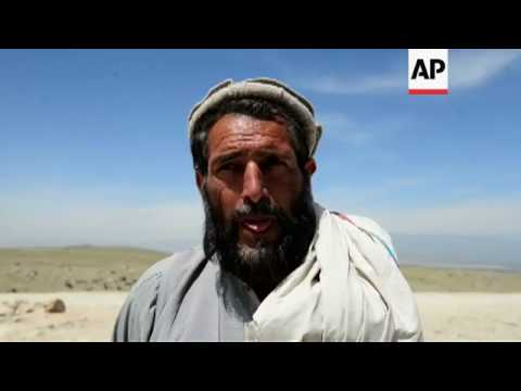 Scenes in Afghan villages near MOAB impact site