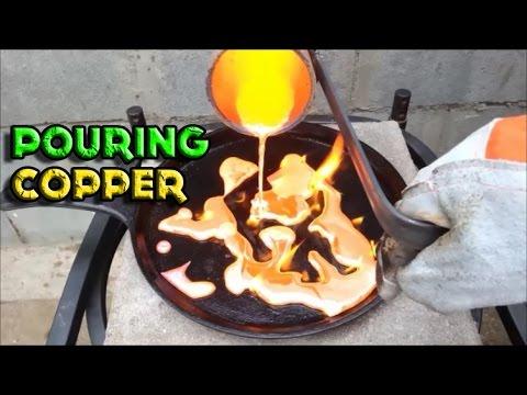 Molten Copper vs Cast Iron Pan