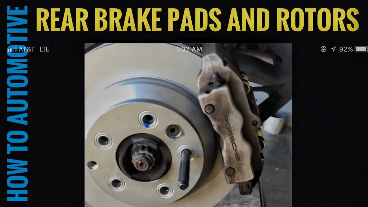 How To Replace Rear Brake Pad Rotors And Sensors On A 2003 Porsche Cayenne S