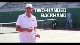 playsight tennis tips with paul annacone learn the two handed backhand