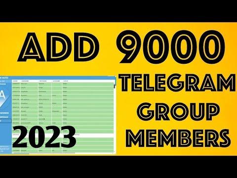How to Add Telegram Group Members - YouTube