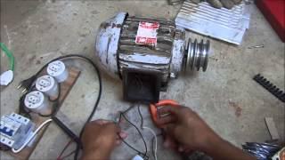 Motor trifasico na rede monofasica