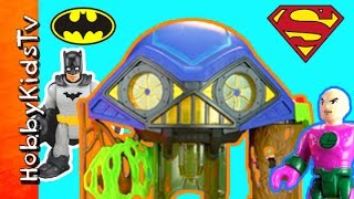 Batman Imaginext Hall Of Doom Robin Lex Superman Joker by HobbyKidsTV