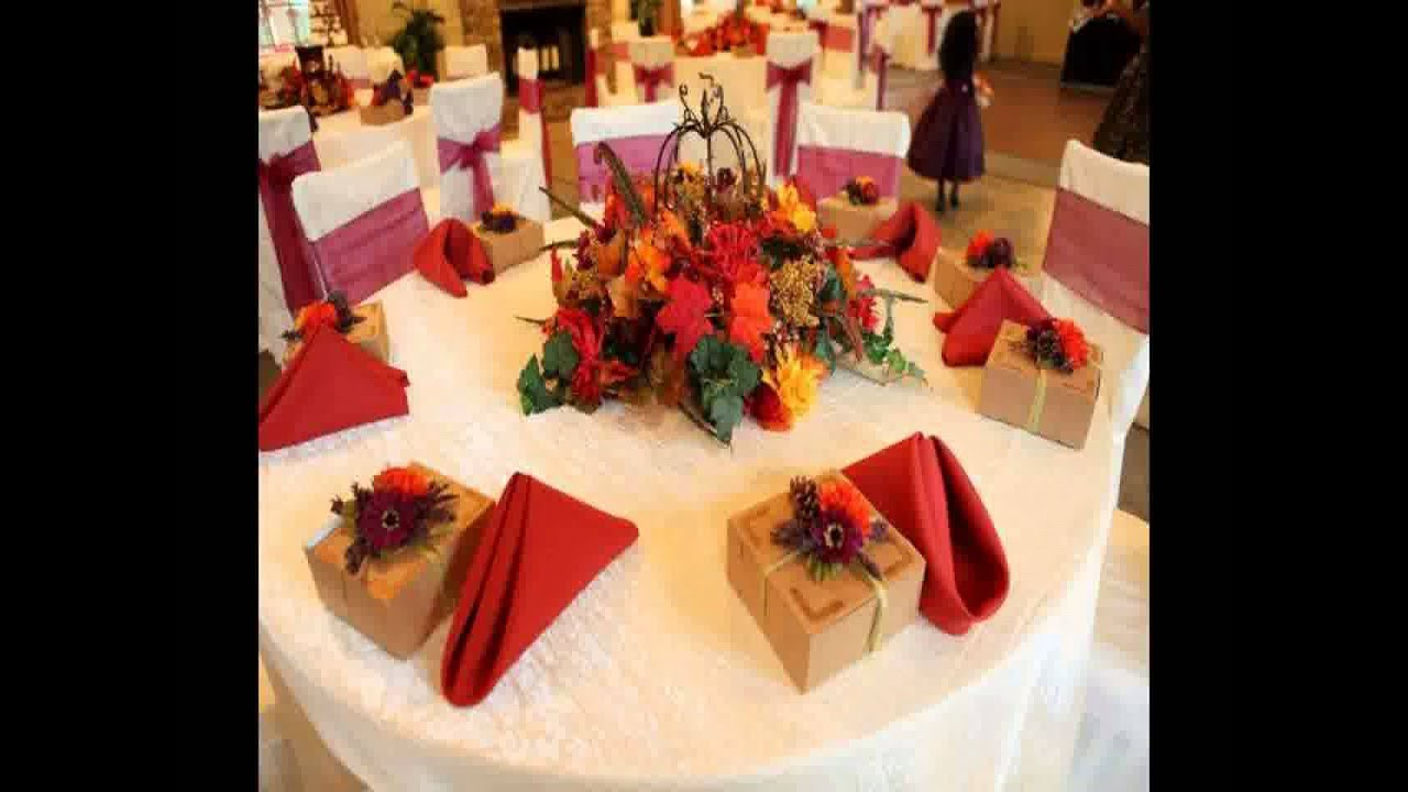 Elegant Creative Fall Wedding Ideas On A Budget   Home Art Design Decorations    YouTube