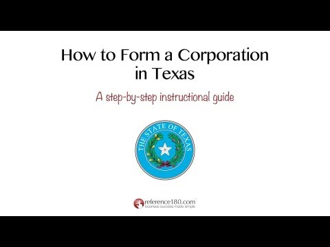 How to Incorporate in Texas