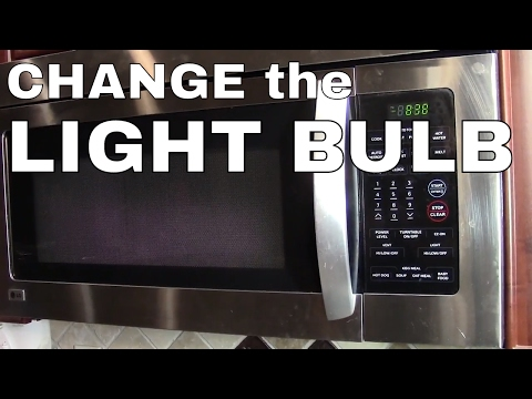 Change The Light Bulb In A Lg Or Samsung Microwave Oven How To You
