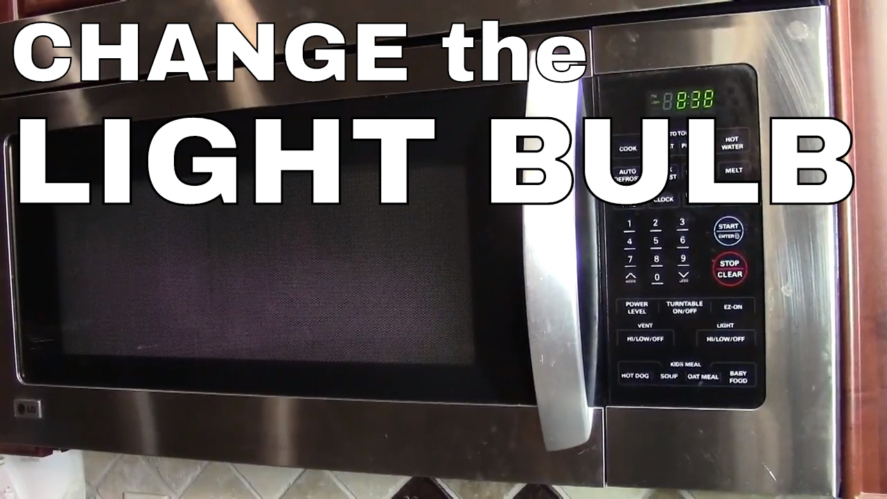 Change The Light Bulb In A Lg Or Samsung Microwave Oven How To