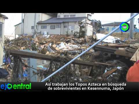 Los Topos mexicanos en las entrañas del tsunami en Japón