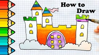 How to Draw a Castle Easy │ Princess Castle