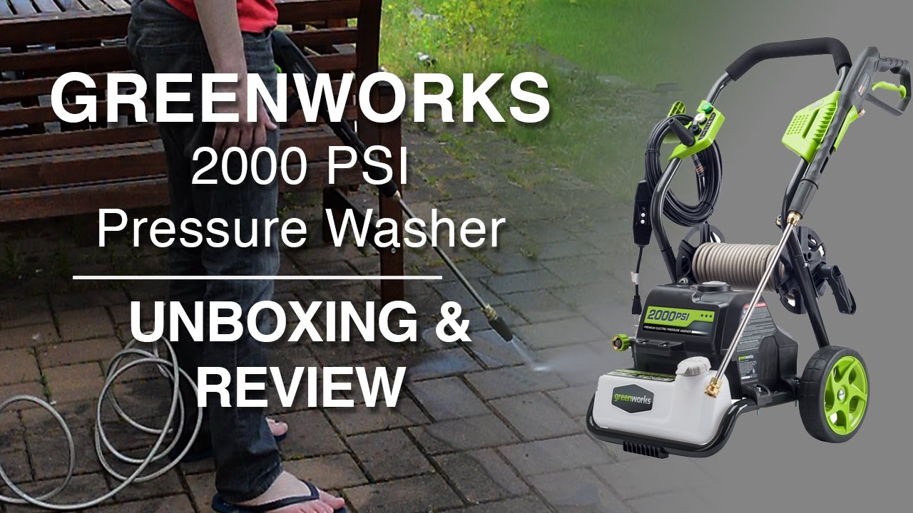 Greenworks 2000 Psi Electric Pressure Washer Review Amp Demo