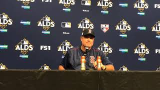 Chris Sale mislocated in the zone John Farrell said after Boston Red Sox Game 1 ALDS loss