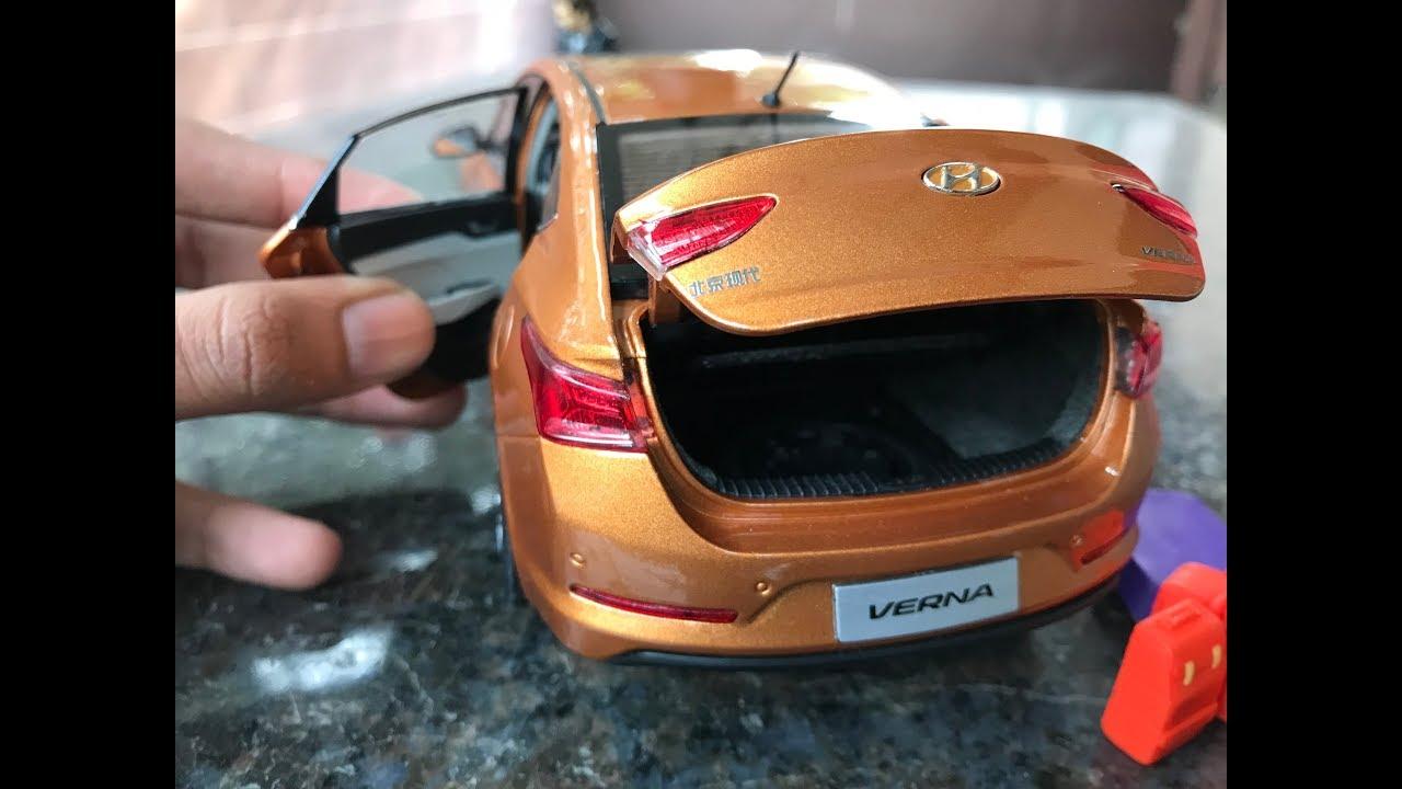 Diecast Unboxing 2017 Hyundai Verna Flame Orange 1 18