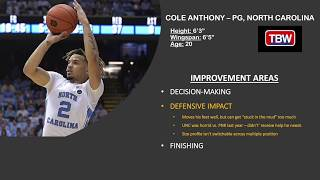 #2020nbadraft #coleanthonyvideo breakdown of 2020 draft prospect and north carolina tar heels pg cole anthony.improvement areas:-decision-making-defensive im...
