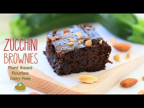 Zucchini Brownies Plant Based, Flourless, Dairy Free +12M